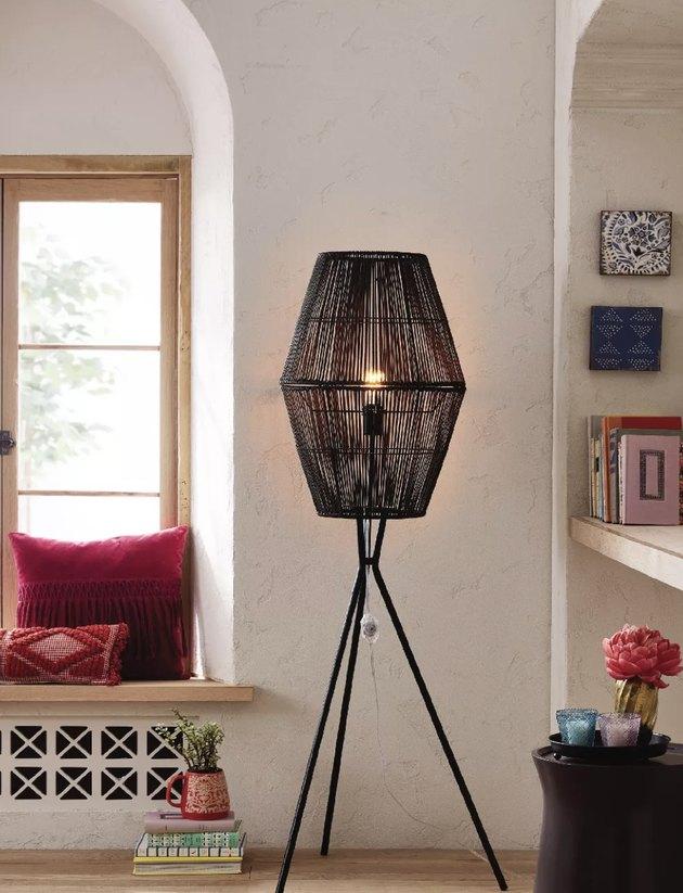 Opalhouse Rattan Diamond Tripod Floor Lamp