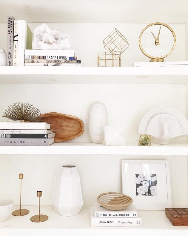 How to Style a Bookshelf With Items Under $50