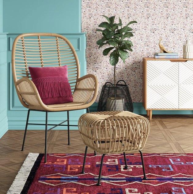 Opalhouse Lily Rattan Arm Chair