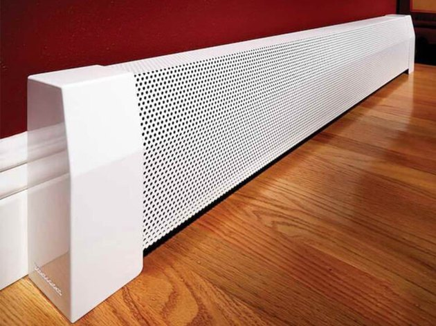 Baseboard heater cover.