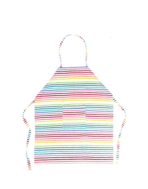 rainbow stripe kids apron