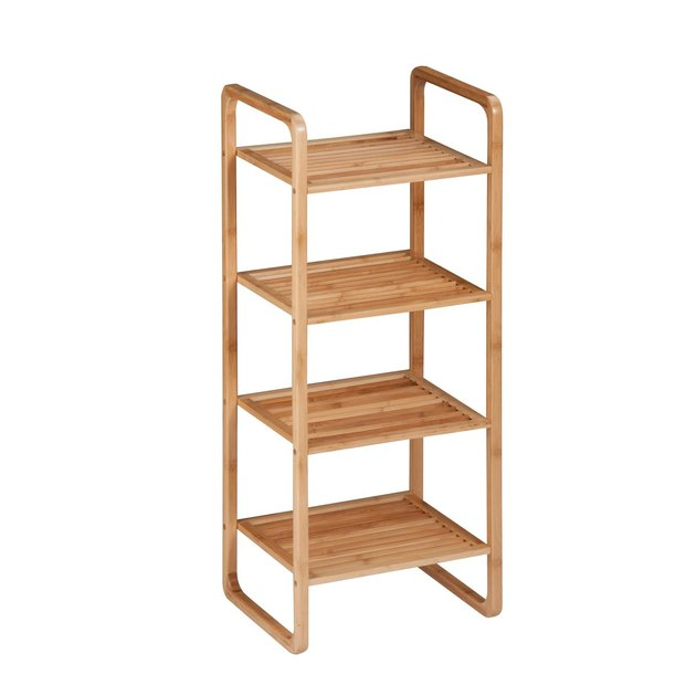 Honey Can Do Accessory Storage Bamboo Bathroom Shelf