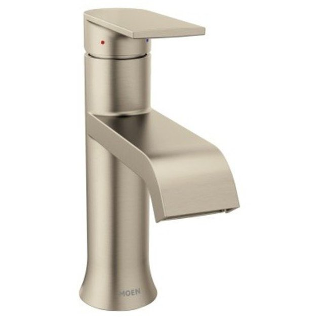 Moen 6702 Genta Single Handle Centerset Bathroom Faucet in Brushed Nickel