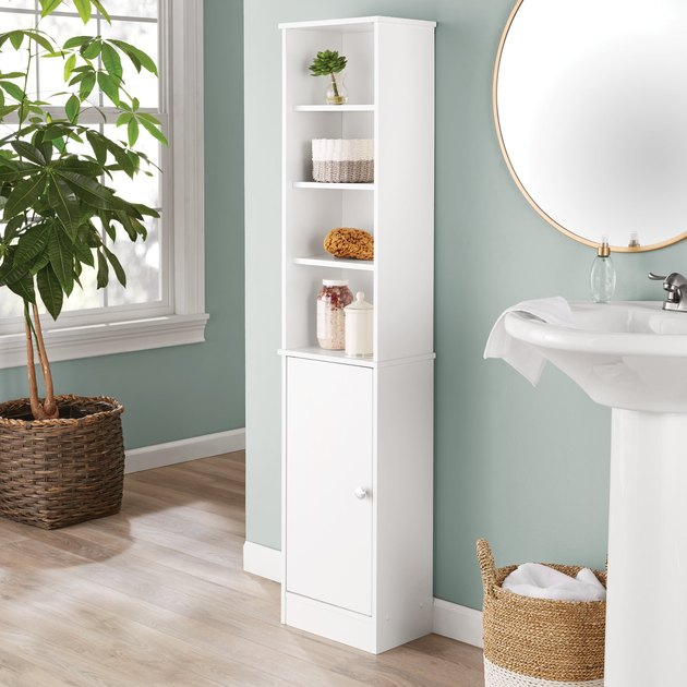 Mainstays Bathroom Storage Linen Tower in White