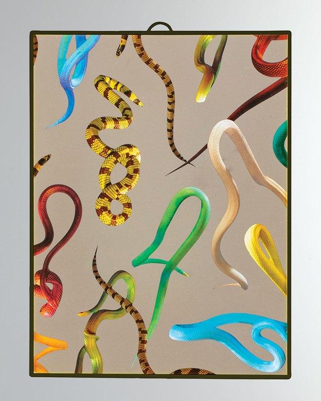 Seletti Snake Print Mirror
