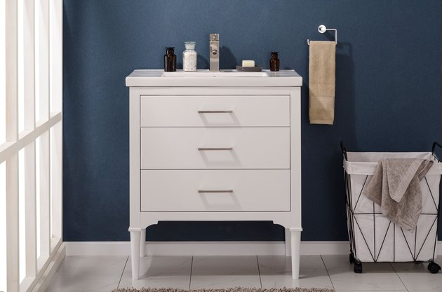 "Design Element Mason 30"" Single Sink Bathroom Vanity in White"