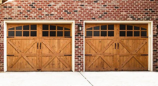 wooden garage doors with oil rubbed bronze hardware