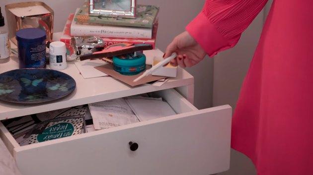 messy nightstand
