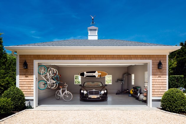 Detached Garage Ideas with cottage-style detached garage with concrete floors