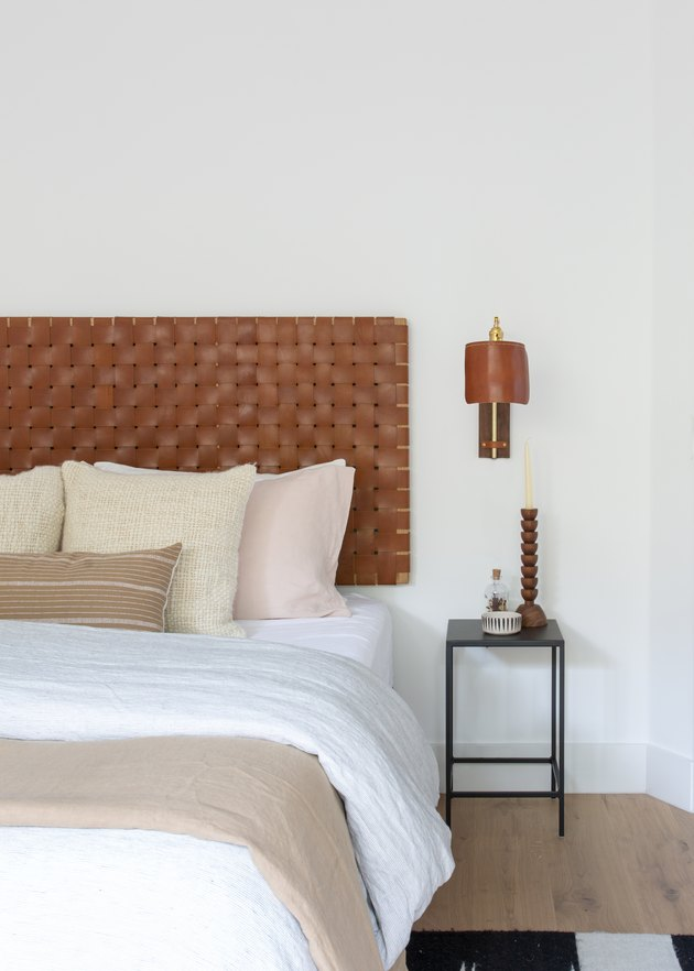Guest Room with leather headboard