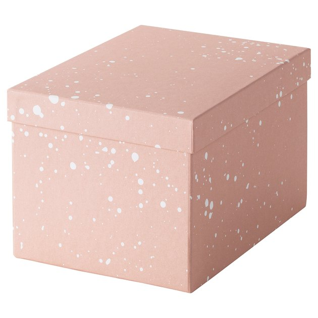 pink ikea storage box
