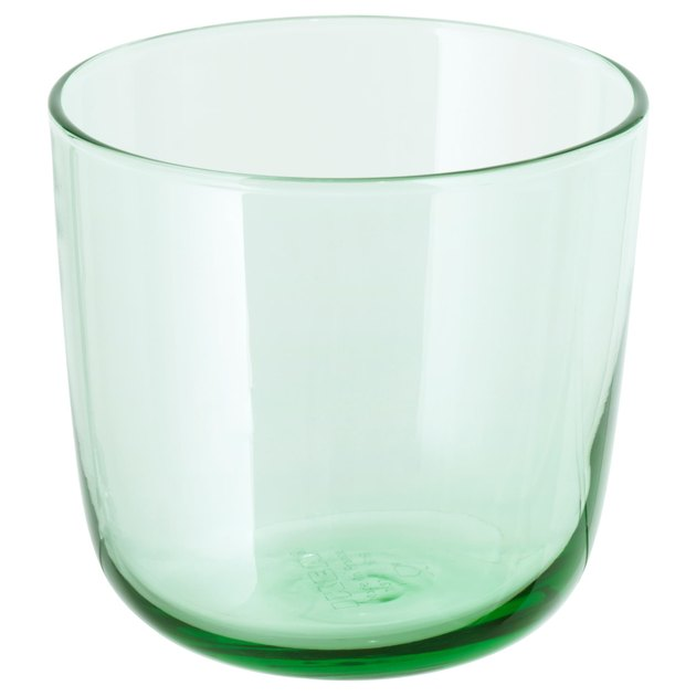 ikea green glass