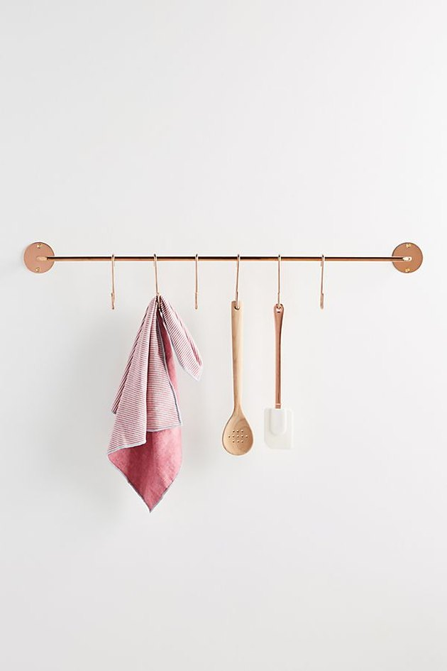 lea wall-mounted pot and utensil rack