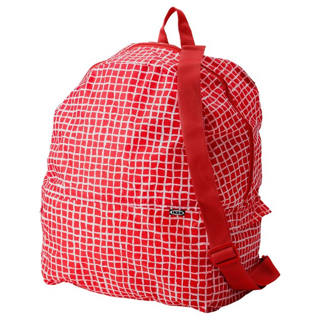 red ikea backpack