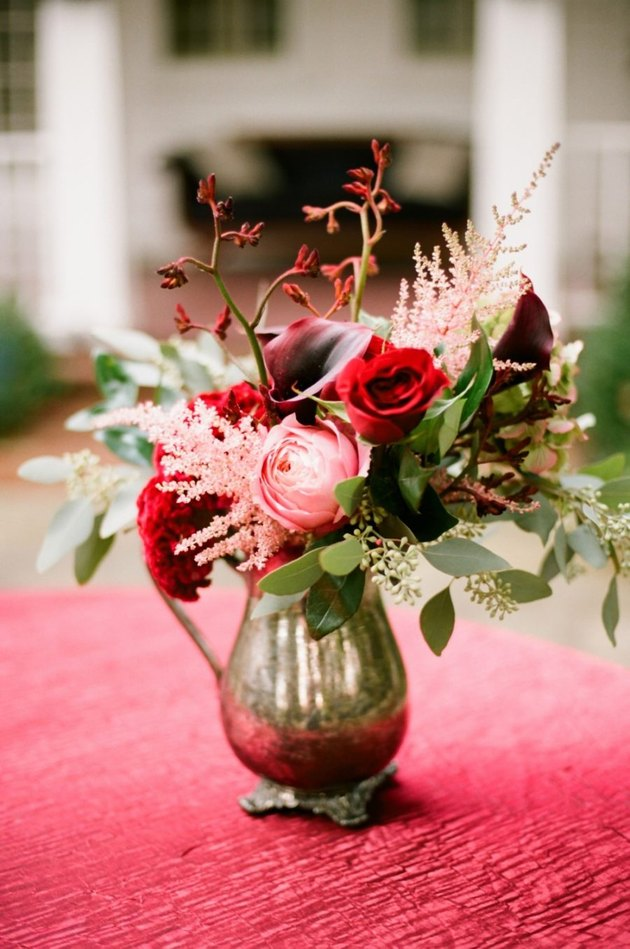 fresh flowers in a vintage vase