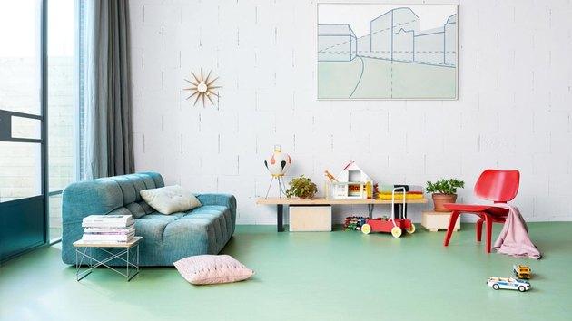 linoleum flooring family room