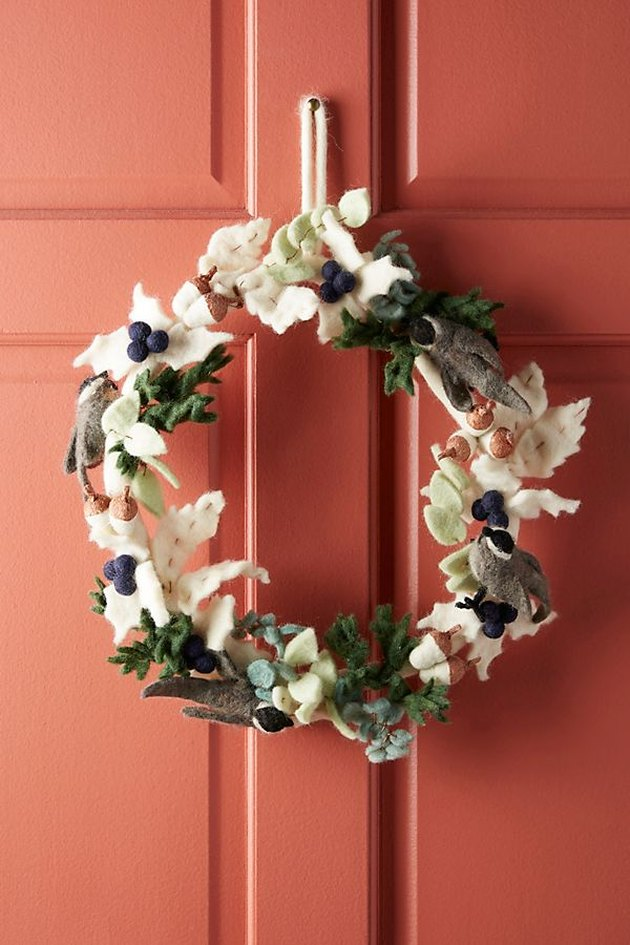 pine forest holiday wreath