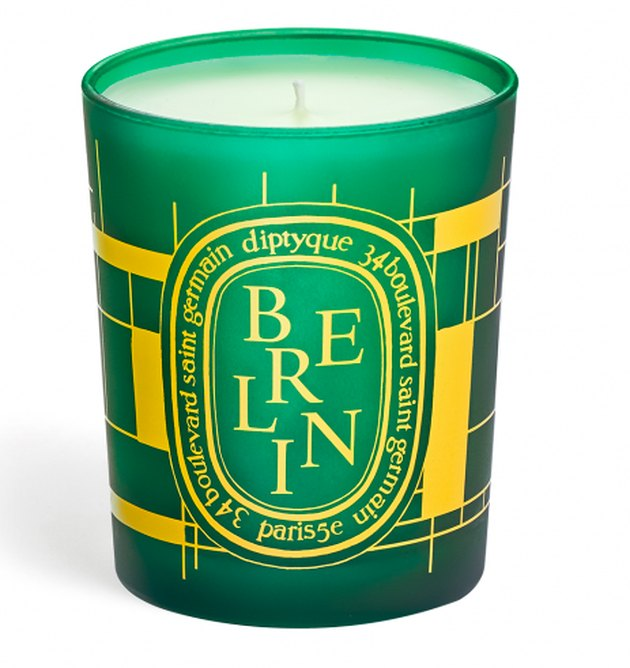 green candle with berlin text