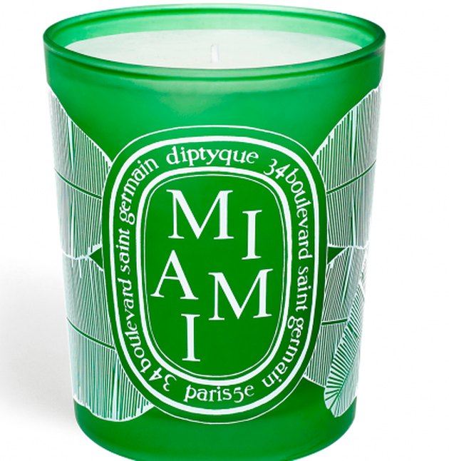 green candle with miami text
