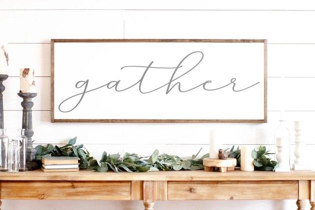 etsy gather sign