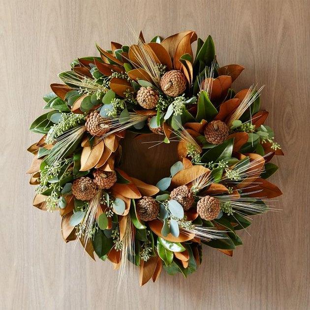 fall-inspired wreath for front door