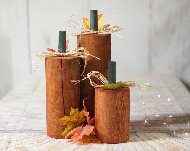etsy wood pumpkins