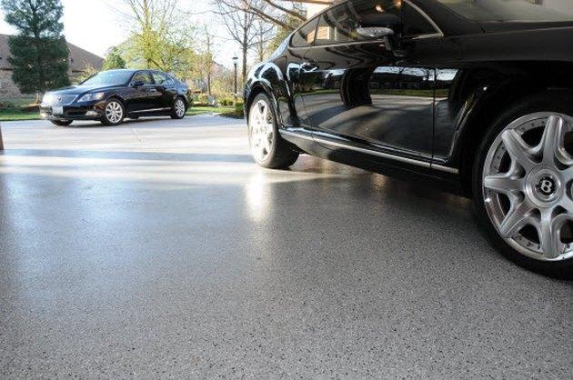 Epoxy garage floor.