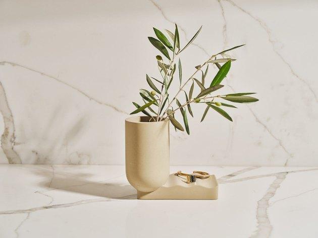 concrete sculptural vase