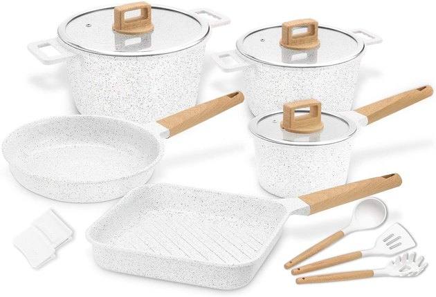 white ceramic pots and pans set from cooklover