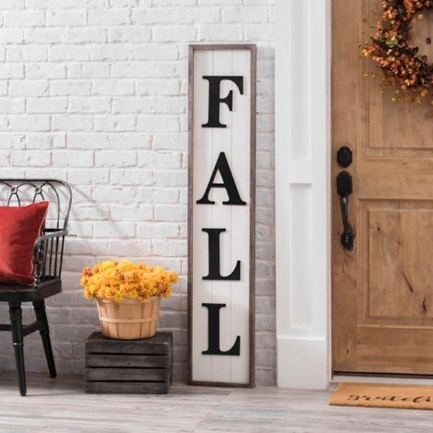 fall plank for front door