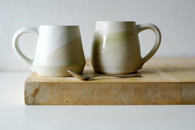 two ceramic mugs