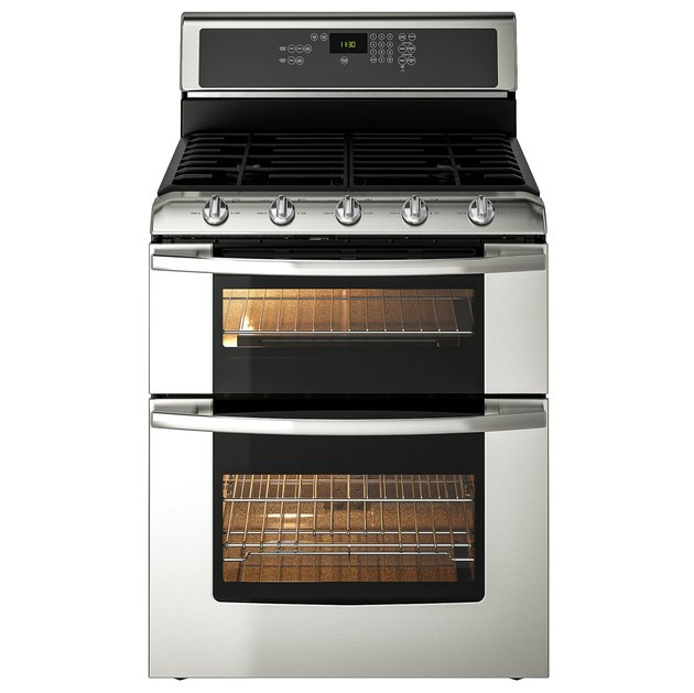 Double oven stove by IKEA in stainless steel