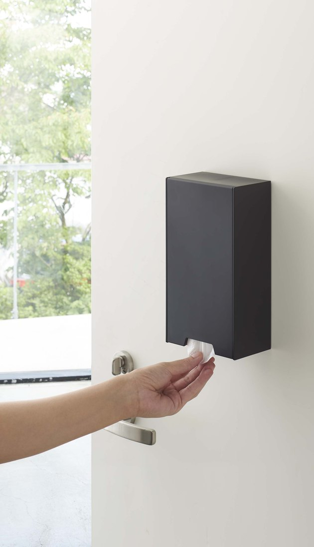 wall mounted face mask dispenser