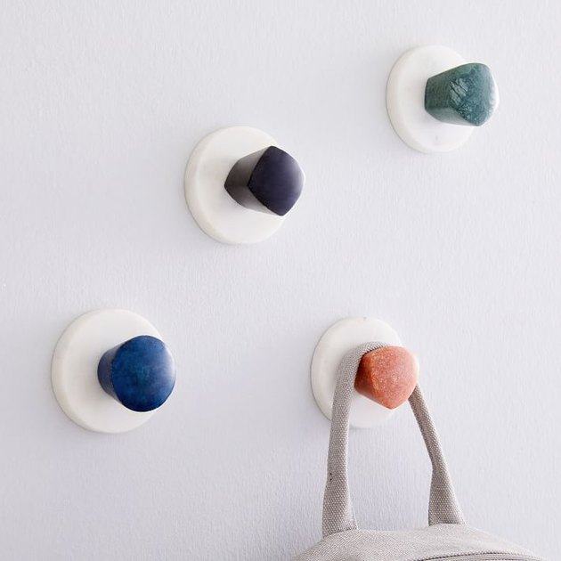 colorful wall hooks