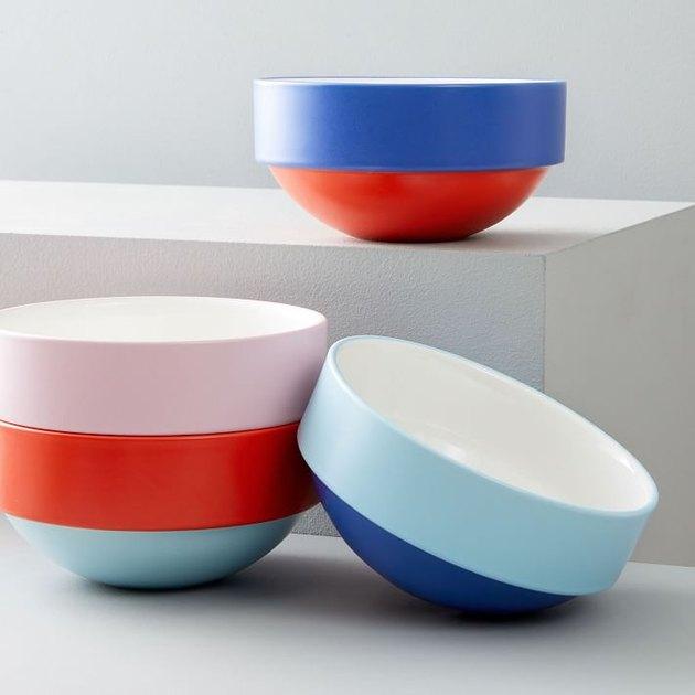 color pop cereal bowls