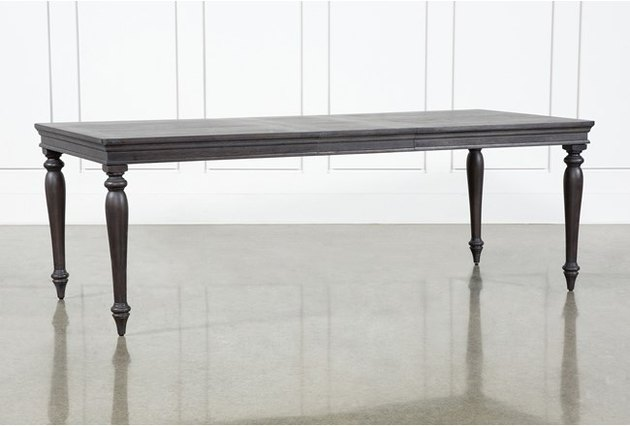 black extension dining table