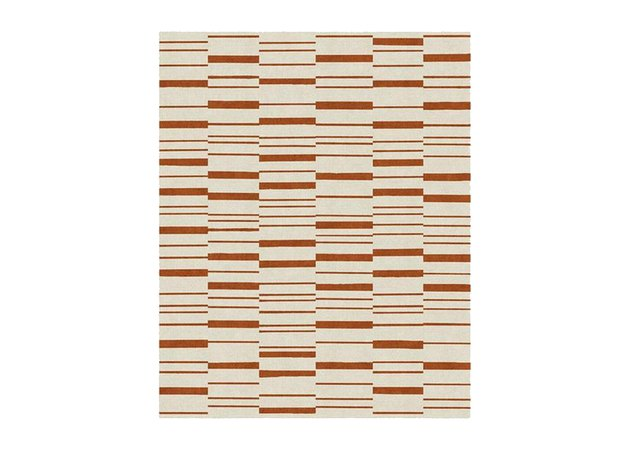 Broken Stripe Rust Orange Rug