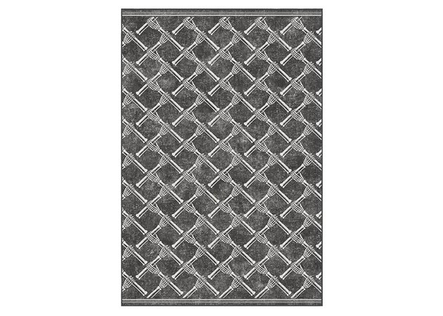 Skeleton Trellis Black Rug