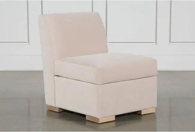 blush pink accent chair