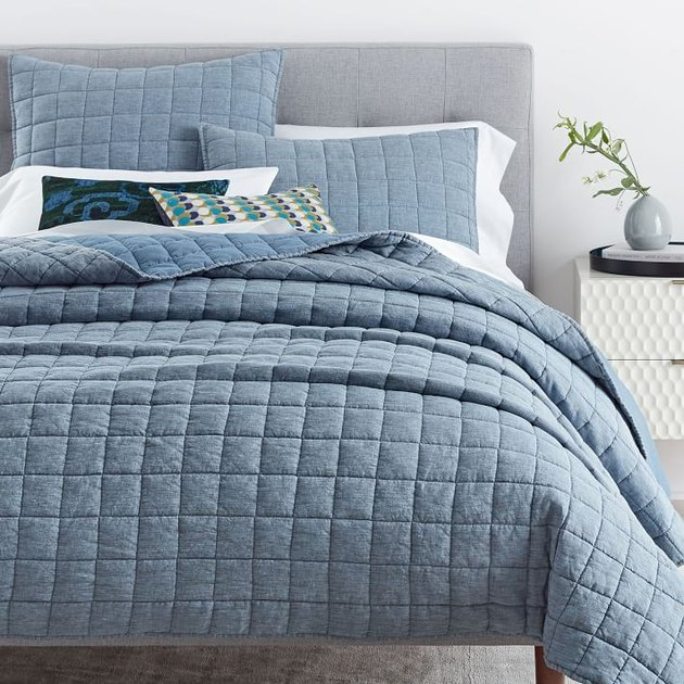 light blue bedding set