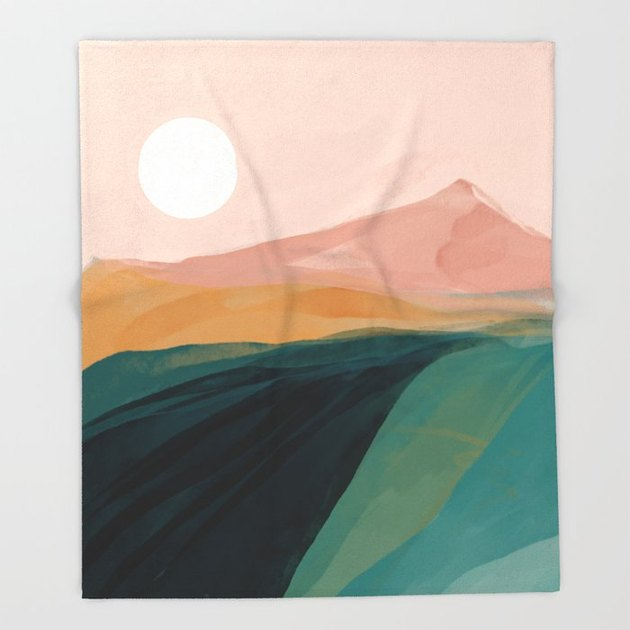 throw blanket with natural landscape