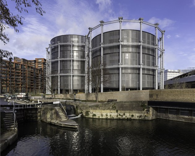 gasholders apartment building in london