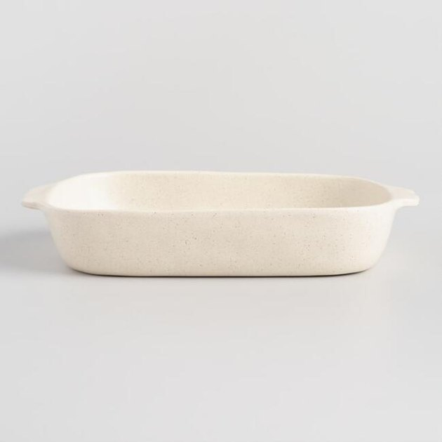 ceramic speckled baking dish from World Market