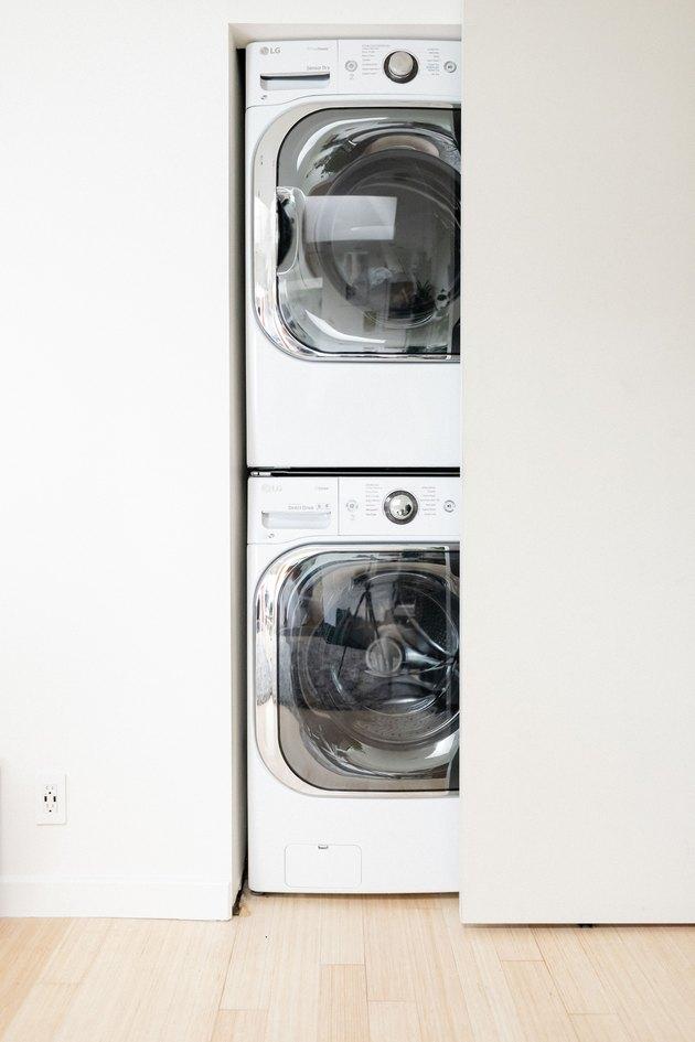 Stacked washing machine and dryer