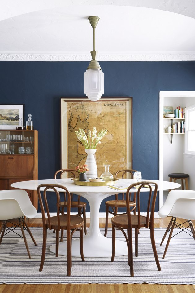 Craftsman Interior Paint color inspiration for blue dining room