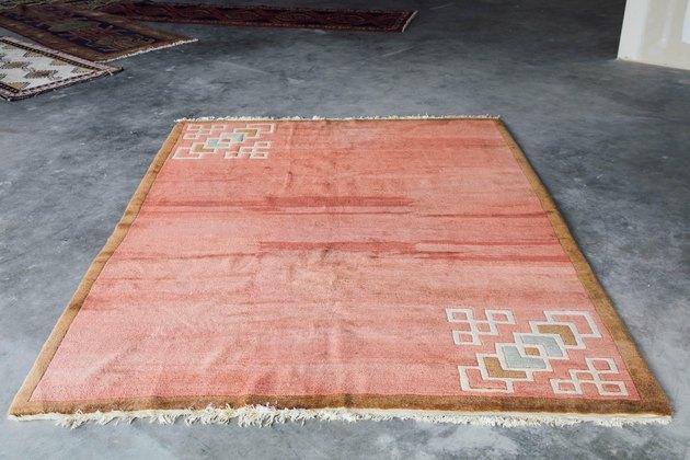 Vintage peach Nepali rug