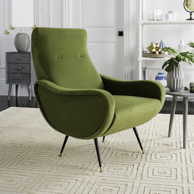 green velvet safavieh chair