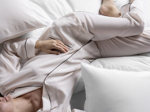 blush silk pajamas