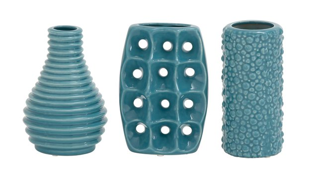 Decomode Modern Blue Ceramic Vase Trio, $37.90