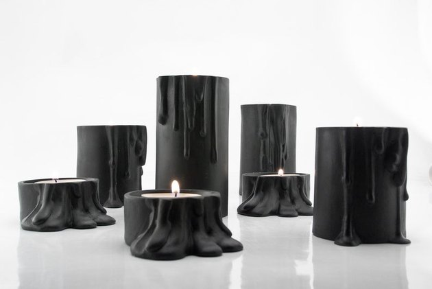 Ceramic black candle